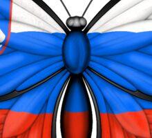 Slovenian Flag Butterfly Sticker