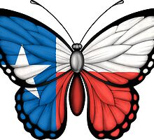 Texas Flag Butterfly by Jeff Bartels