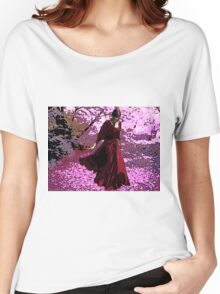 SCARLET ON CHERRY-BLOSSOM STROLL Women's Relaxed Fit T-Shirt