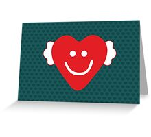 Cute Candy Heart - emerald Greeting Card