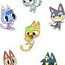 Animal Crossing - Cat Set 1 by JimHiro