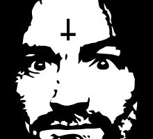 Charles Manson - Manson Silhouette  - black / white by Charles Manson