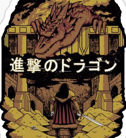 Attack on Dragon (Sticker version) Sticker