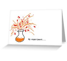 My experiment is .... Greeting Card