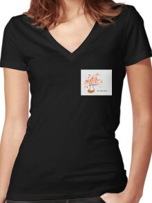 My experiment is .... Women's Fitted V-Neck T-Shirt