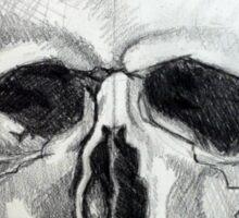 Skull Sketch Sticker