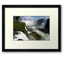 Iguaçu Falls Rainbow Brazil Framed Print