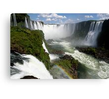 Iguaçu Falls Rainbow Brazil Canvas Print