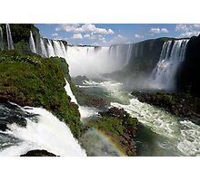 Iguaçu Falls Rainbow Brazil Photographic Print