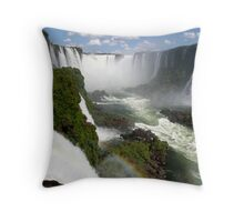 Iguaçu Falls Rainbow Brazil Throw Pillow
