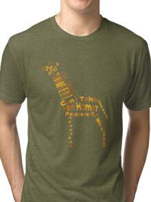OMG A GIRAFFE! Tri-blend T-Shirt