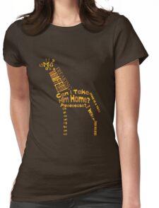 OMG A GIRAFFE! Womens Fitted T-Shirt