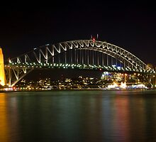bridge over vivid water by Husher