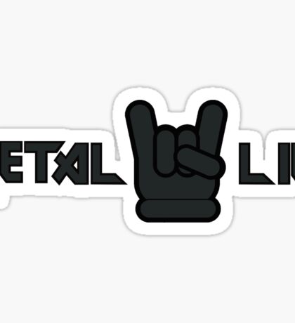 Metal Life Sticker