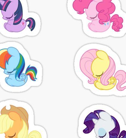 Sleepy Ponies - Mane 6 Set Sticker
