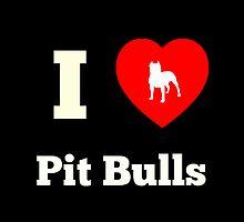 I Heart Pit Bulls - Sticker by Rai Ball (The Elocutioner)