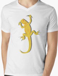 Yellow Lizard Mens V-Neck T-Shirt