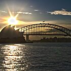 Sydney Opera House and Bridge by Zach Chadim