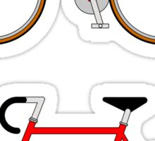 The Bicycle. Cut and Share Sticker Sticker