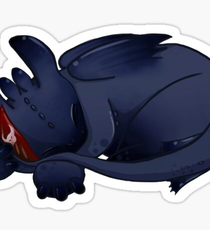 Sleeping Cuties- Toothless Sticker