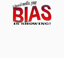 Liberal media, your BIAS IS SHOWING! Women's Fitted V-Neck T-Shirt
