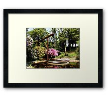Waterfall Garden.. Framed Print