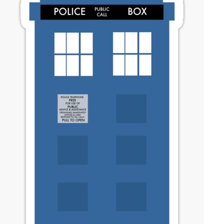 TARDIS - Doctor Who - Police Box Sticker