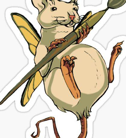 Artistic Rat Sticker