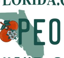 Florida License Plate Design - Florida Old People Sticker