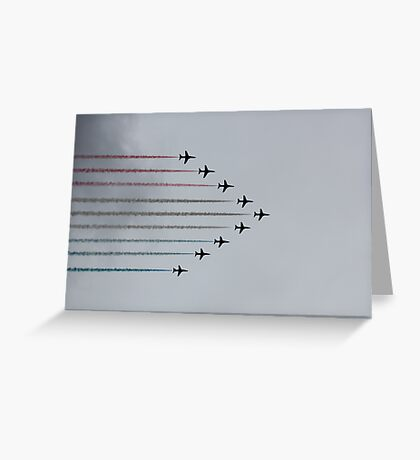 Red Arrows horizontal Greeting Card
