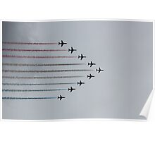 Red Arrows horizontal Poster