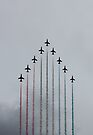 Red Arrows vertical by Jasna