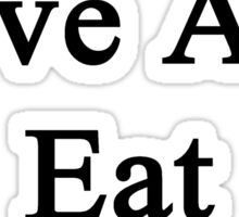 I Live Love And Eat Hiking  Sticker