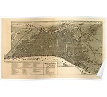 Panoramic Maps Philadelphia in 1888 Poster