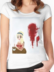 Morning After Murder  Women's Fitted Scoop T-Shirt