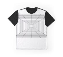 Perspective Grid - Space Station - Lines Graph Infinity Duvet Cover Graphic T-Shirt