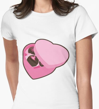 Chocolate is a Girl's Best Friend Womens Fitted T-Shirt