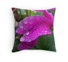 Drips of rain Throw Pillow