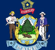 Maine State Flag T-Shirt Portland Car Sticker Duvet Cover Sticker