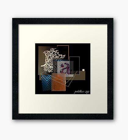"""""""Turn Anxieties Into Pleasure"""" Framed Print"""