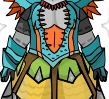 Monster Hunter 3 Armour Mixup Sticker