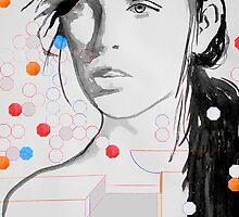 figure with geometric shapes by Loui  Jover