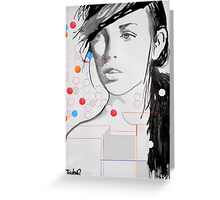 figure with geometric shapes Greeting Card