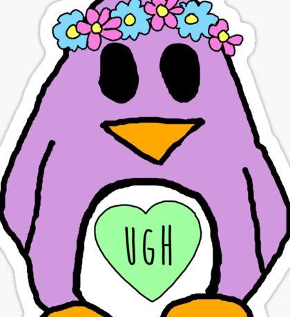 Pastel Penguin Sticker