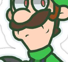 Luigi Kart 8 Sticker
