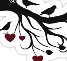 Love Grows Birds and Hearts Sticker
