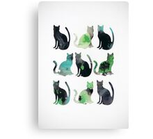 Nine Cats Canvas Print
