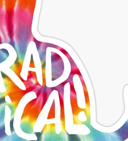 Radical Cat Tie Dye Sticker