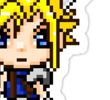 Cloud Strife Pixel Art Sticker