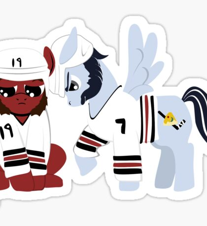Pegabrook and Pony Toews Pep Talk Sticker